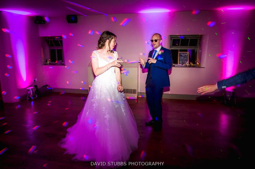 groom wearing sunglasses