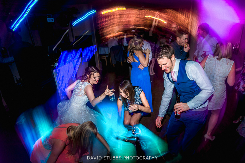 guests partying light trails