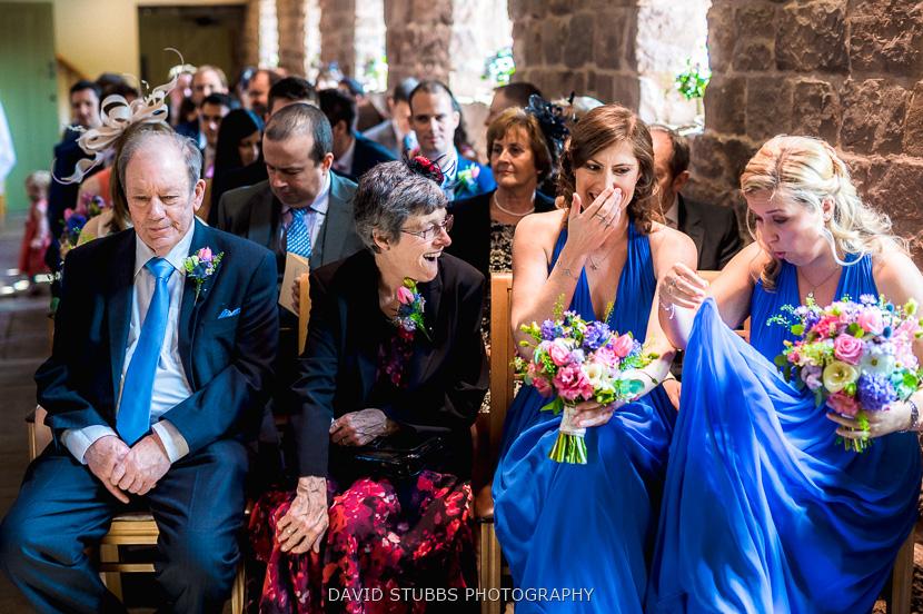 parents and bridesmaids