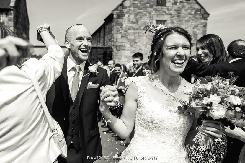 bride and husband after wedding