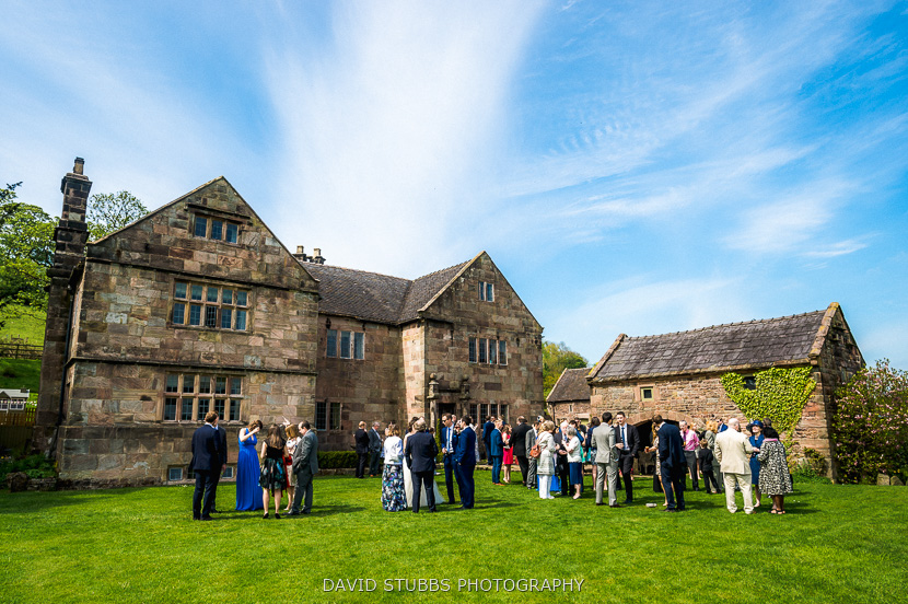 guests stood on lawn