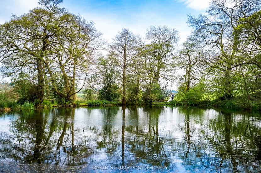 stood at pond