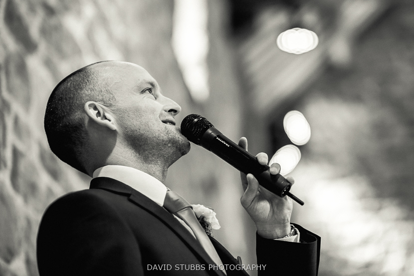 groom speech black and white