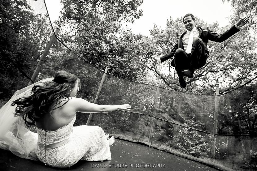 bride groom trampoline