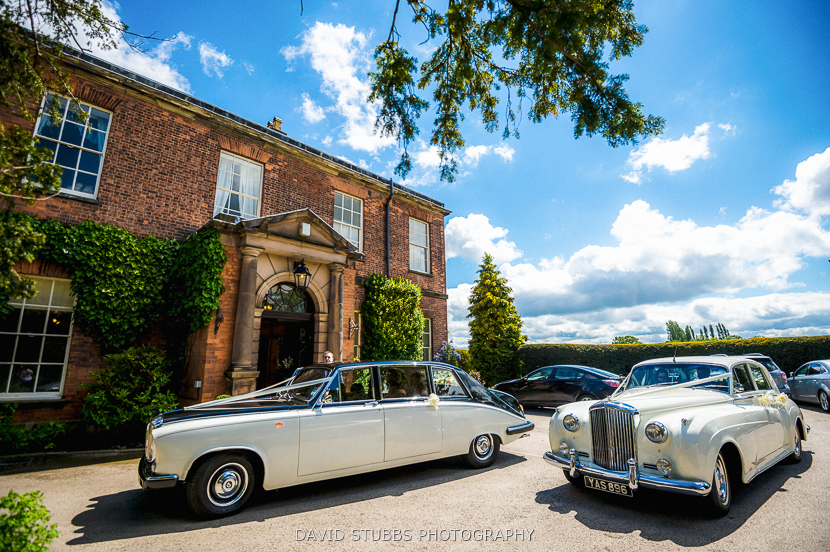 cars arrive at reception