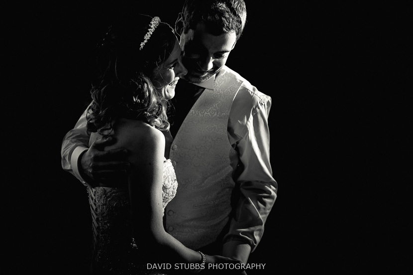 black and white dancing couple