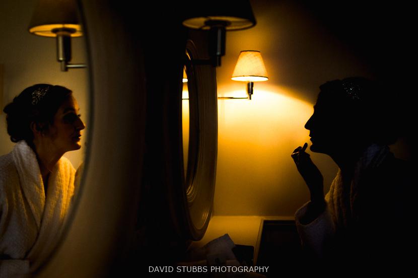 silhouette against light