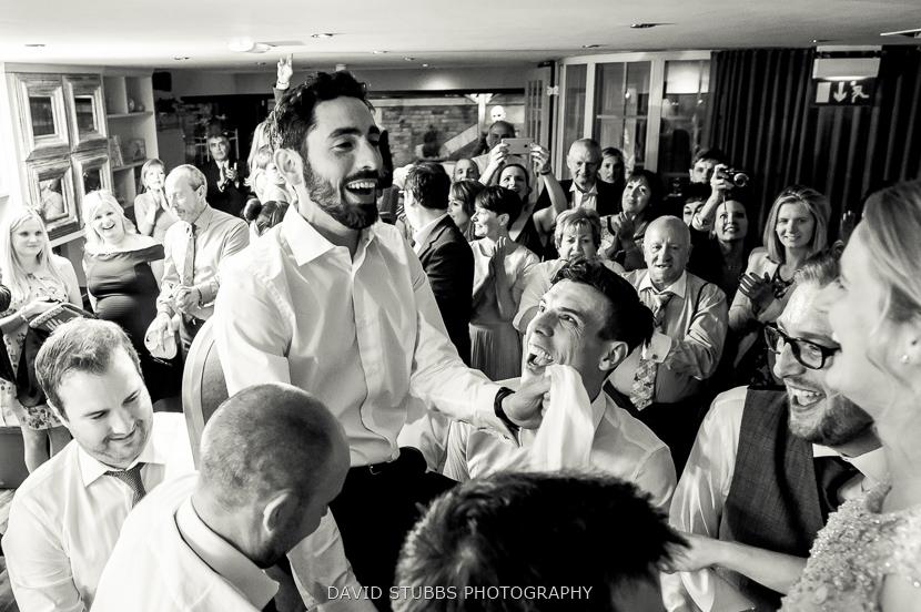 groom on chair