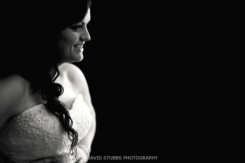 wife profile black and white
