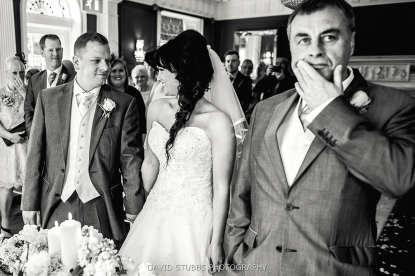 marriage ceremony black and white