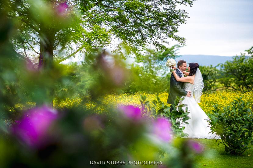 colour portrait of man and bride