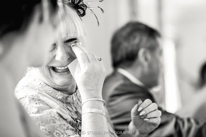 mother crying laughing