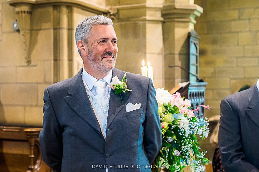 husband sees bride
