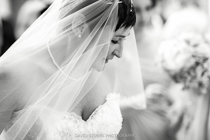 close up of bride
