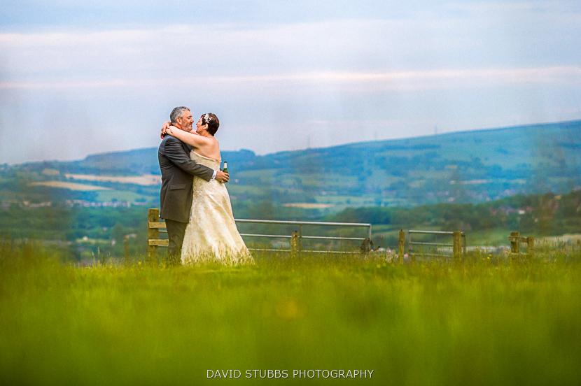 couple stood in field
