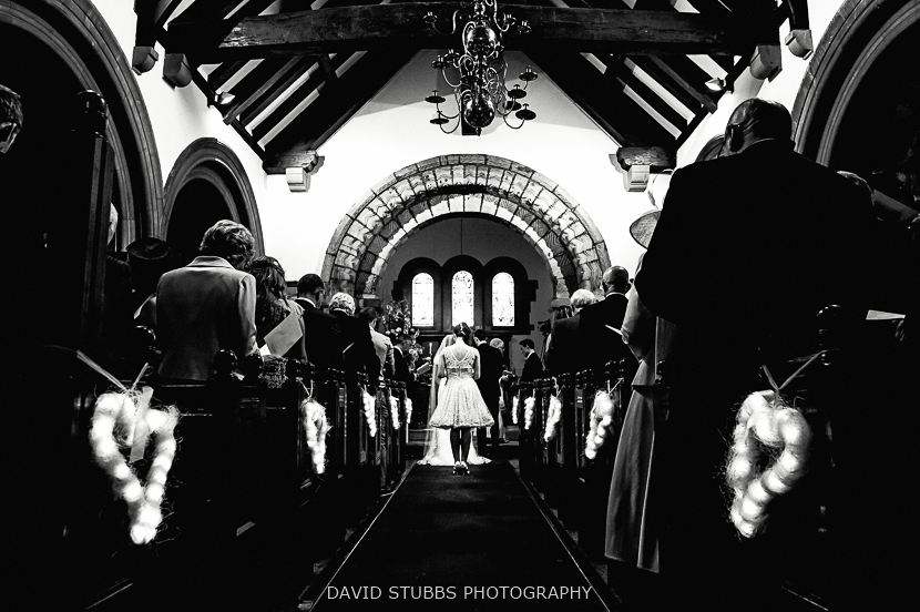 wedding ceremony black and white