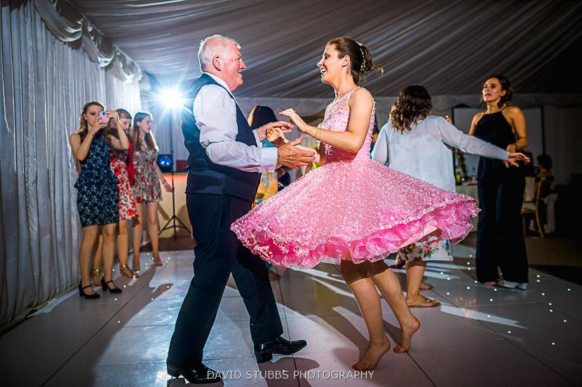 pink dress spinning