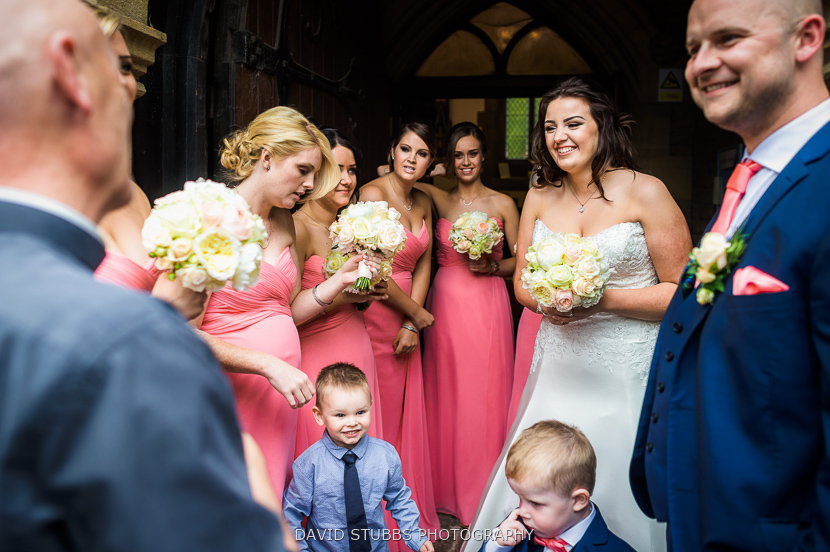 woman with bridesmaids