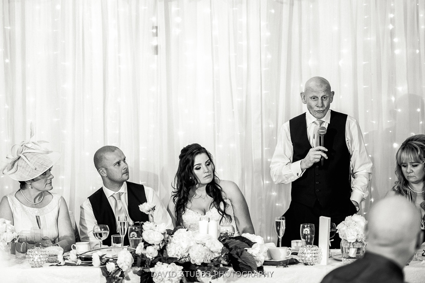 father of bride doing speech