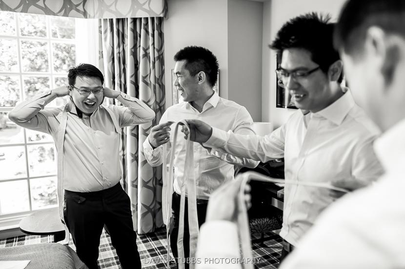 men getting dressed