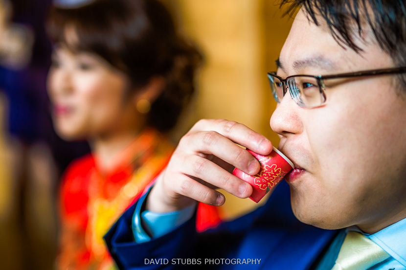 close up of man drinking