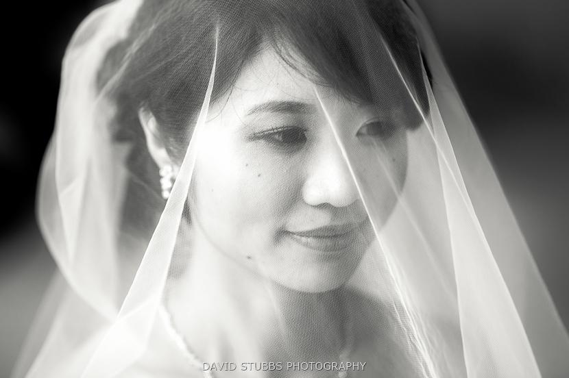 close up of veiled woman