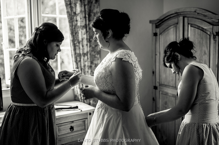 bridesmaids before ceremony