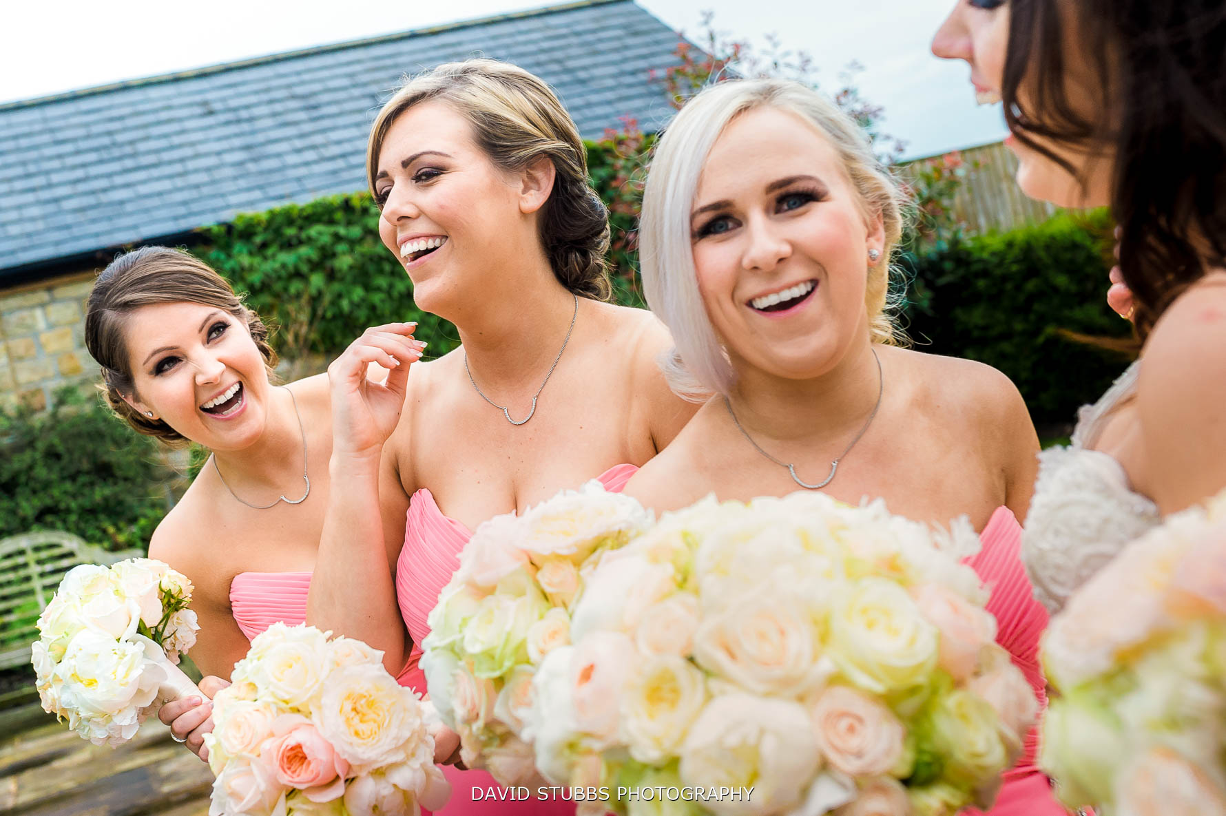 bridesmaids having a laugh