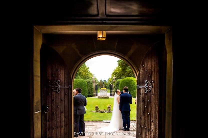 couple stood outside door