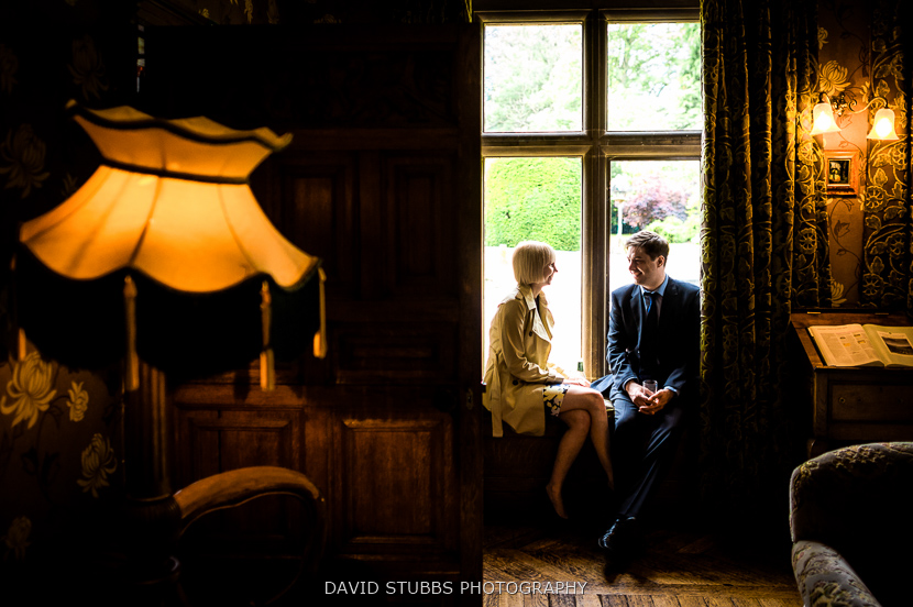 guests sat in window at soughton hall