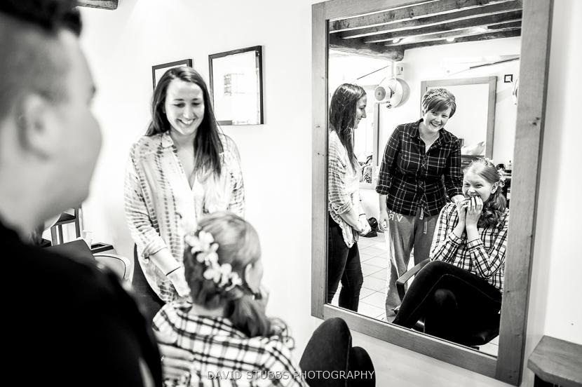 women getting ready