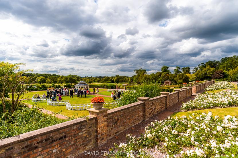 clouds over garden colour photo