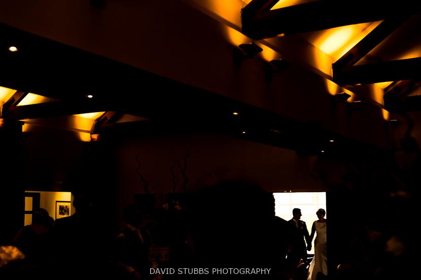 couple silhouette in door