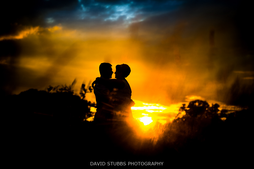 woman and husband silhouette