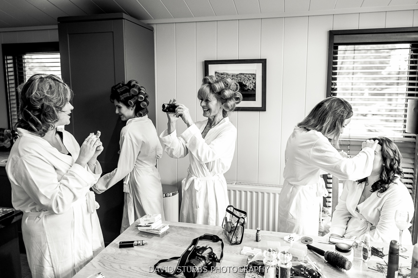 women getting ready