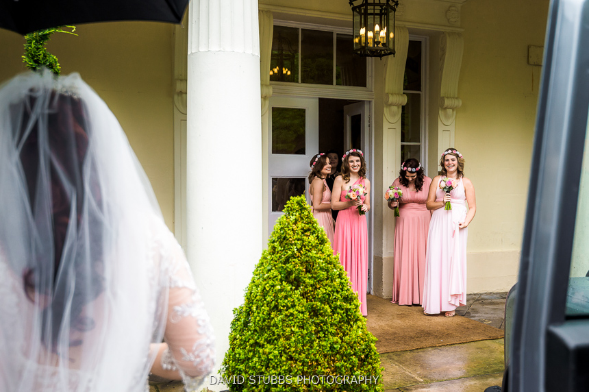 bridesmaids waiting colour photo