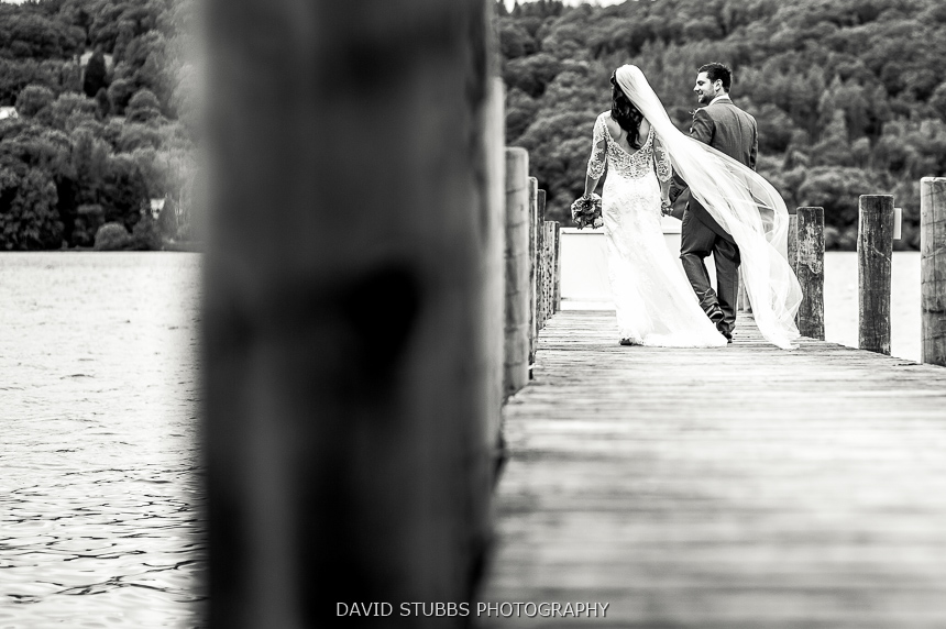married couple on jetty