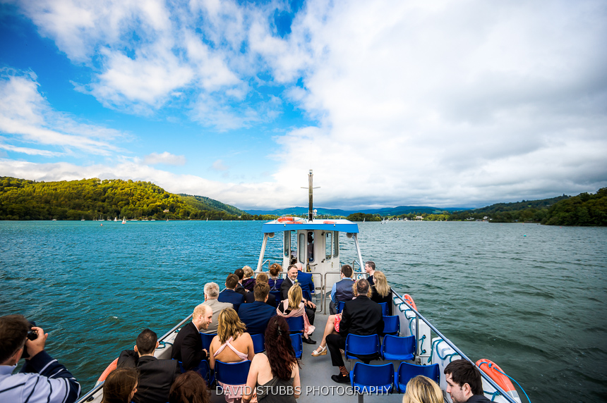 boat on windermere wedding photographer deep water