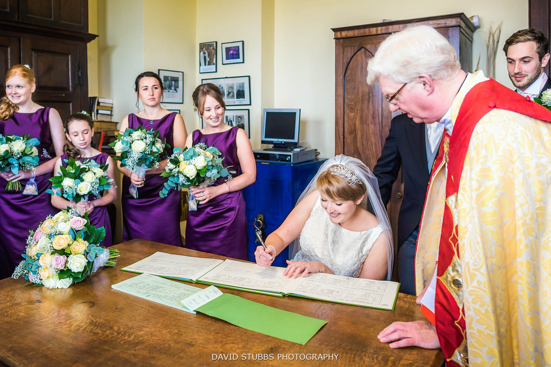 signing the register to make it legal