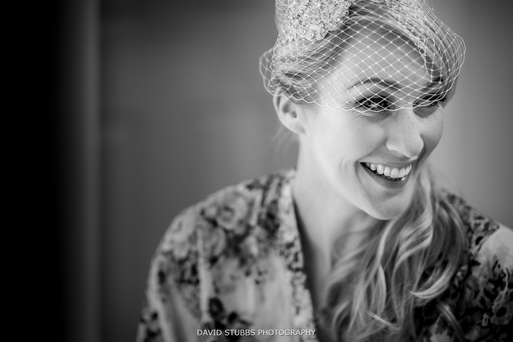 bridal photo in black and white