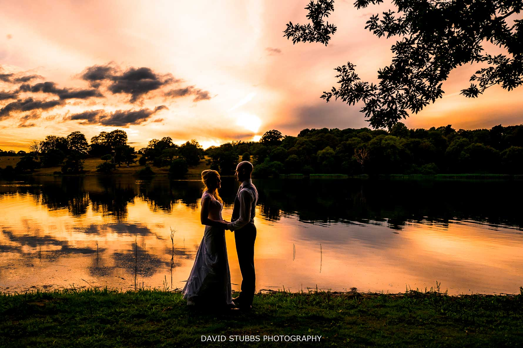 sunset photo by the mere at combermere