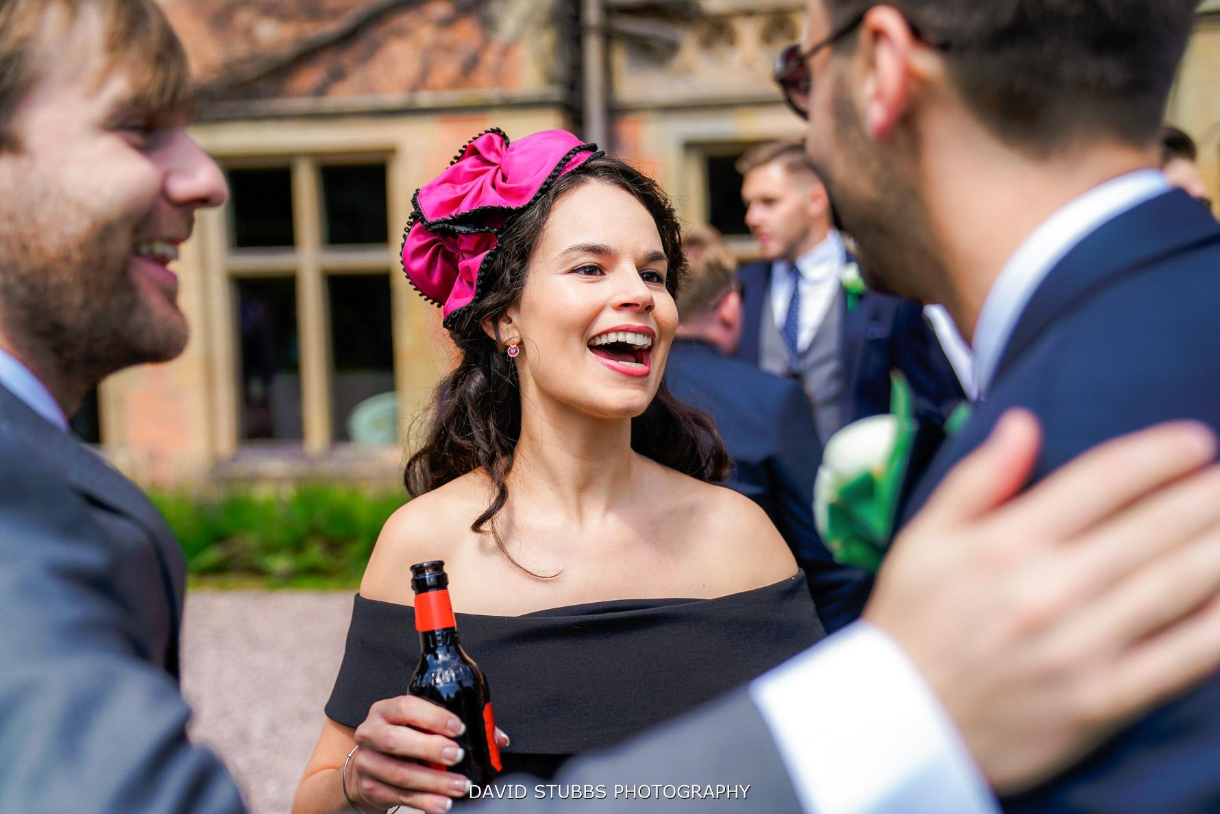 guests greeting groom