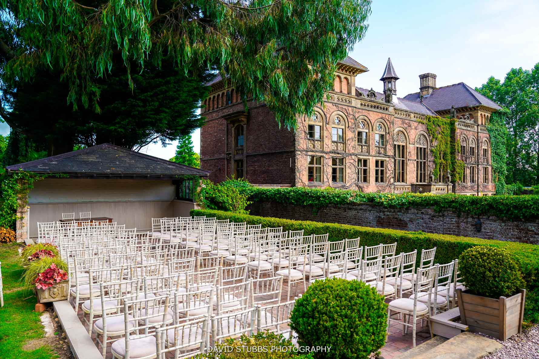 outside ceremony at soughton hall