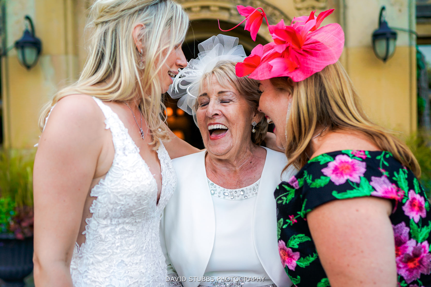 fun and laughter at soughton hall wedding