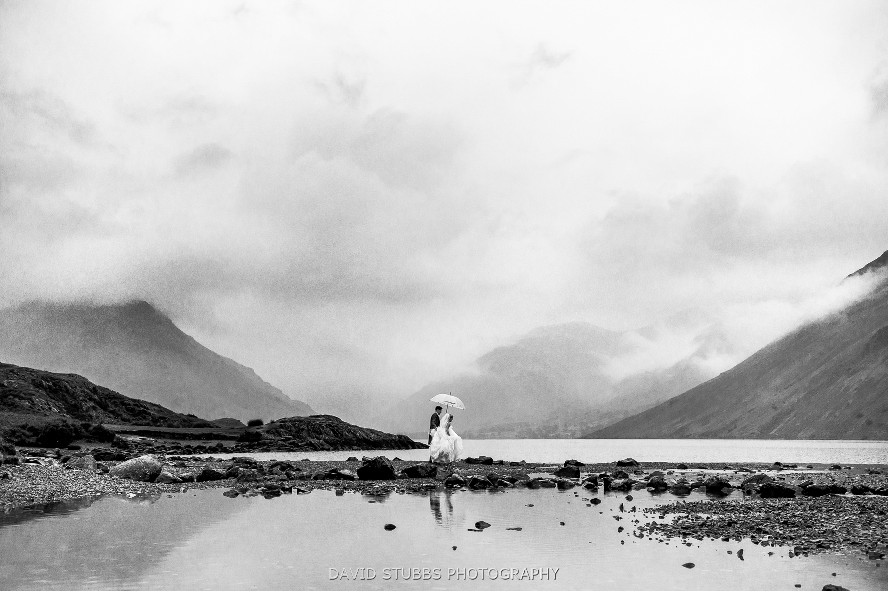 wast water wedding photo