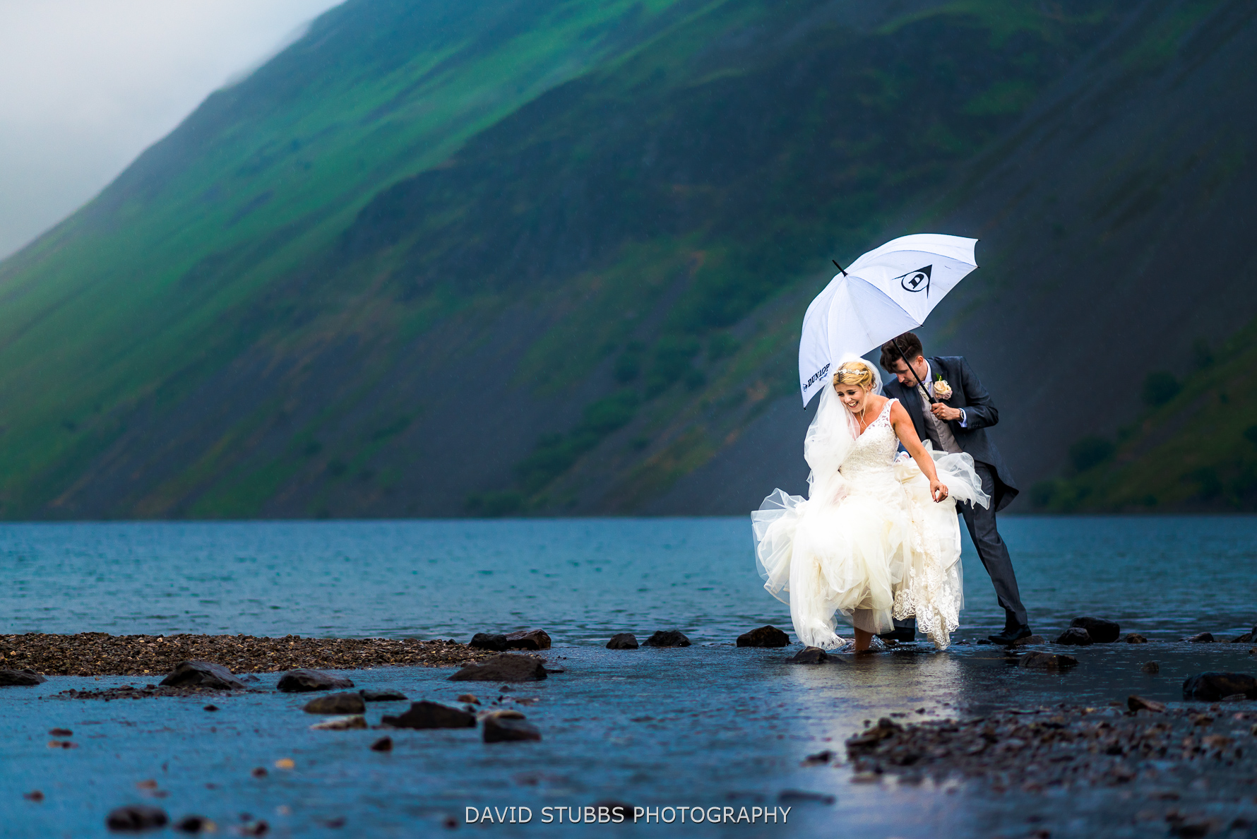 wedding photo taken at wast water