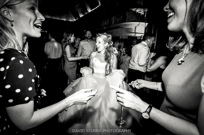 bride dancing black and white