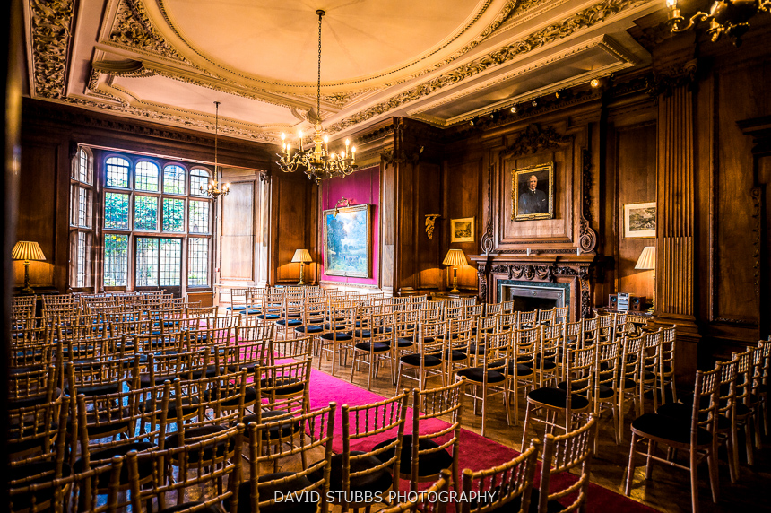 chairs set out for ceremony wedding thornton