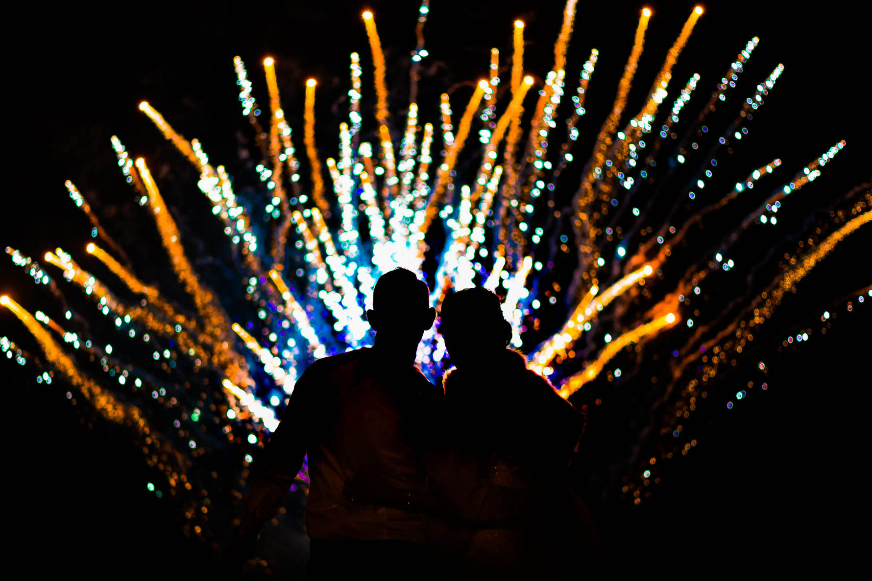 Thornton manor wedding fireworks