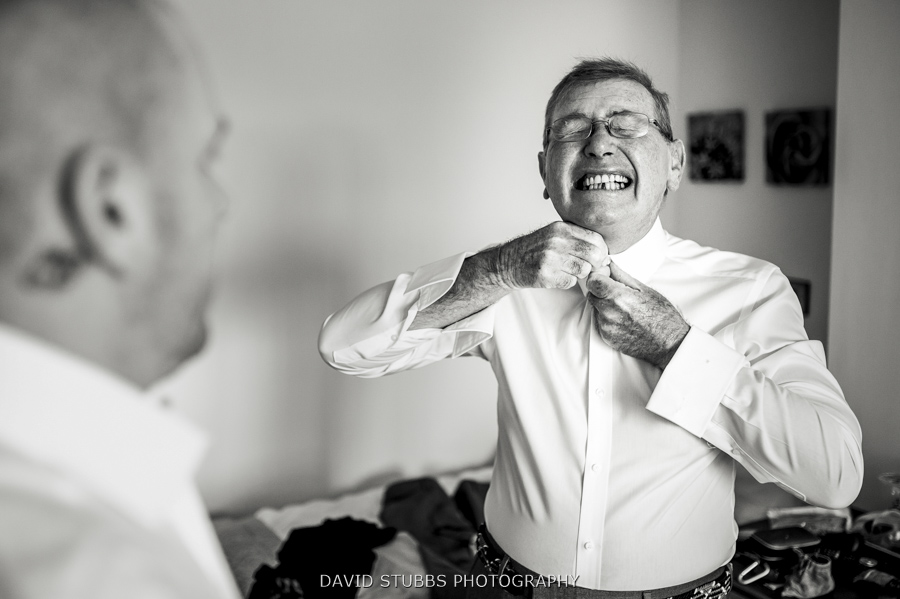 dad doing up his tie